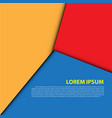 abstract red yellow blue overlap vector image vector image