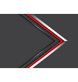 abstract silver red line arrow direction on grey vector image vector image