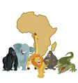 Africa with animals vector image vector image