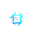ai chipset linear icon vector image vector image