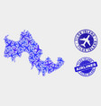 airflight composition tilos island map and vector image vector image