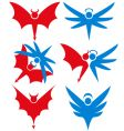 angel and devil icons vector image vector image