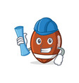 architect american football character cartoon vector image vector image