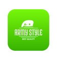 army style icon green vector image vector image