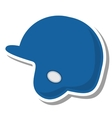 baseball helmet protection equipment icon vector image vector image