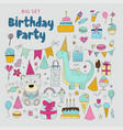 birthday party clip arts vector image vector image