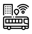 bus wi-fi signal icon outline vector image vector image