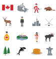 Canada Flat Icons Set vector image