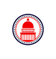 capitol dome logo capitol dome logo vector image
