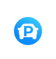 car parking round icon vector image