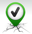 Check green icon in crack vector image vector image