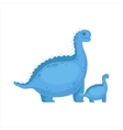 Chubby Blue Iguanodon Dinosaur Prehistoric Monster vector image vector image
