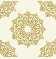 classic seamless golden pattern vector image vector image