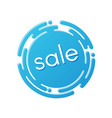 creative sale discount or promotion label design vector image