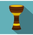 Darbuka musical instrument icon flat style vector image vector image