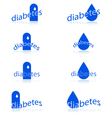 diabetes icons vector image
