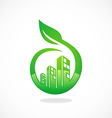 eco friendly modern building logo vector image vector image