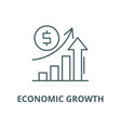 economic growth line icon linear concept vector image vector image