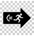 exit direction icon vector image vector image