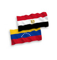 flags venezuela and egypt on a white background vector image