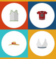 flat icon dress set of elegant headgear singlet vector image vector image