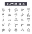 flowers line icons signs set outline vector image vector image