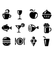 Food and drink icons vector image vector image