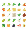 food ingredients icons vector image