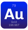 Gold chemical element vector image vector image