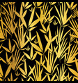 golden and black asian bamboo leaves vector image