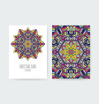 Greeting Card Ornamental Set vector image vector image