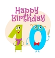 Happy birthday greeting card design with vector image vector image