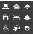 helmet and hat icon set vector image vector image