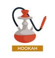 hookah or shisha smoking device flavored tobacco vector image