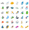 house icons set isometric style vector image vector image