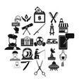 human resources department icons set simple style vector image vector image