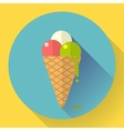 Ice Cream icon Flat designed style vector image vector image
