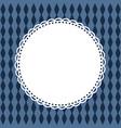 invitation card template retro round frame napkin vector image
