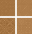 Light brown seamless pattern background set vector image vector image