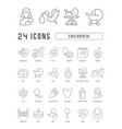 line icons childbirth vector image