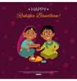 little happy brother and sister celebrating raksha vector image vector image