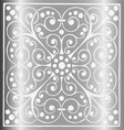 Luxury Vintage Floral Gray Silver Background vector image