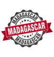 madagascar round ribbon seal vector image vector image