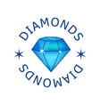 Magic diamond with beautiful facets created by