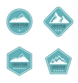 Mountain white logo on blue background vector image