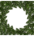 new year christmas green branch fir in a circle vector image vector image