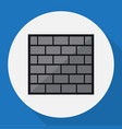 of security symbol on brick vector image