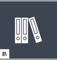 office folders related glyph icon vector image