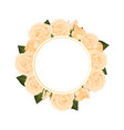 orange rose flower banner wreath vector image vector image