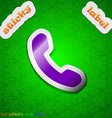 Phone Support Call center icon sign Symbol chic vector image